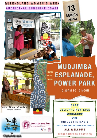FLYER -WORKSHOP (QLD WOMENS WEEK) - MUDJIMBA ESPLANADE