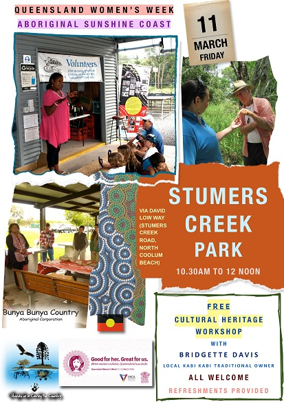 FLYER -WORKSHOP (QLD WOMENS WEEK) - STUMERS CREEK PARK