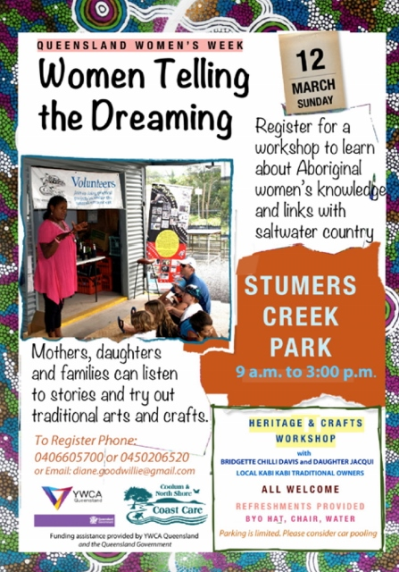 Womens Week Stumers Creek flyer